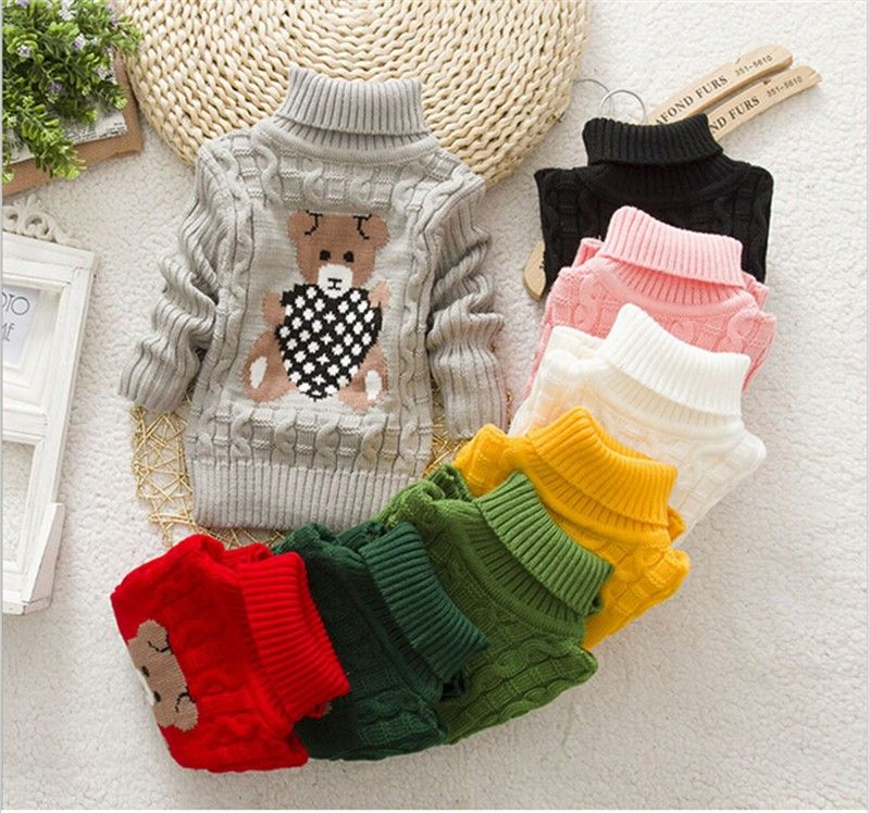 4c4c41d33 Children Clothes High Quality Baby Girls Boys Pullovers Turtleneck ...