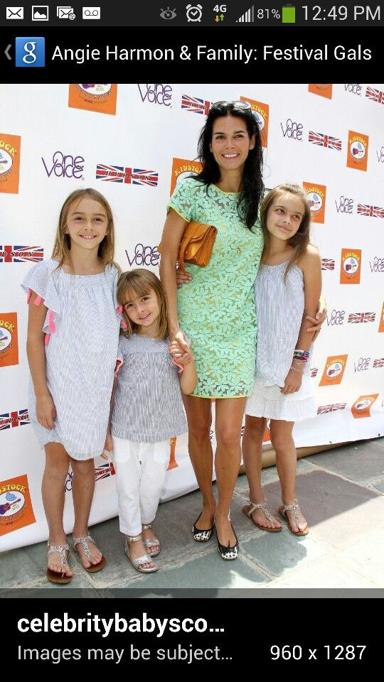 Angie Harmon And Daughters Angie Harmon Angie Celebrity Kids