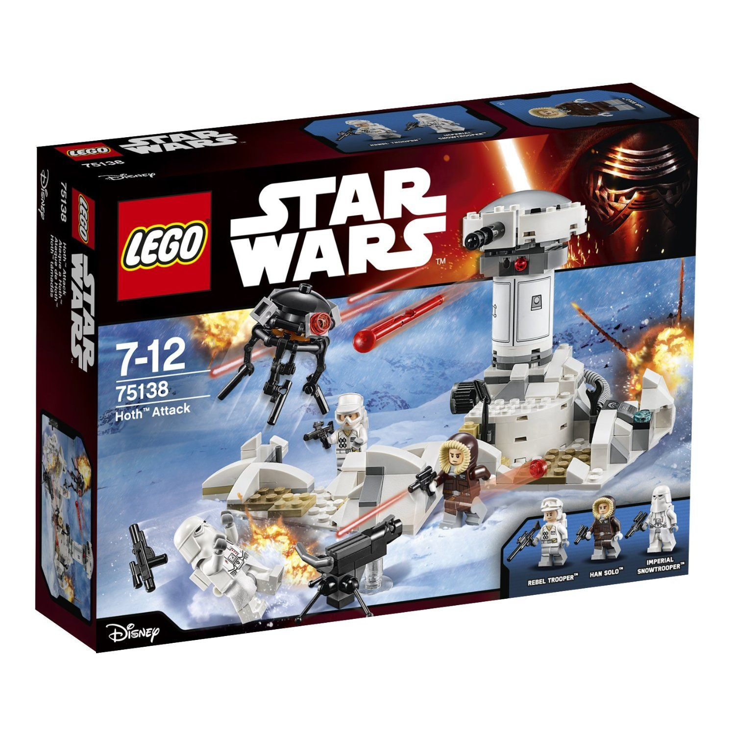 Lego 75138 Hoth Attack Action Figure Set Amazoncouk Toys
