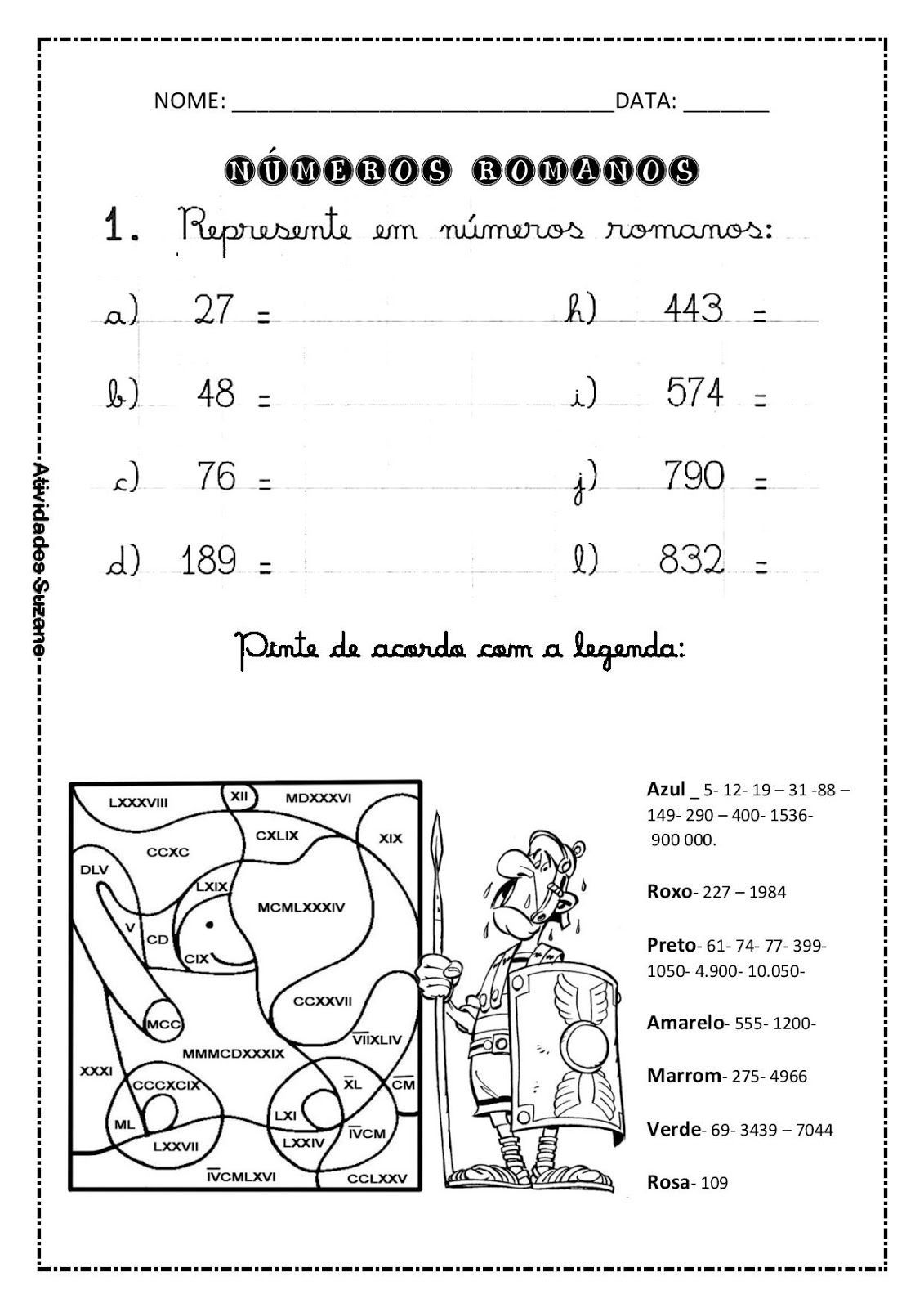 Resultado De Imagen De Como Fazer Numeros Romanos Rom Math