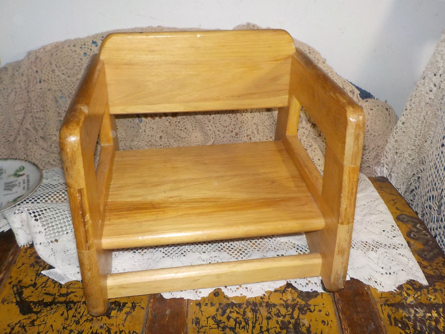 Wooden Childs Booster Seat Full Country Charm Diy Chair Booster Seat Seating