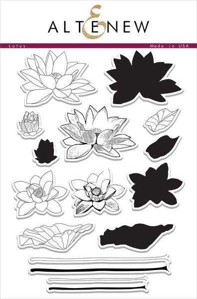 Mini-Stamp  Motive Lotus Flower