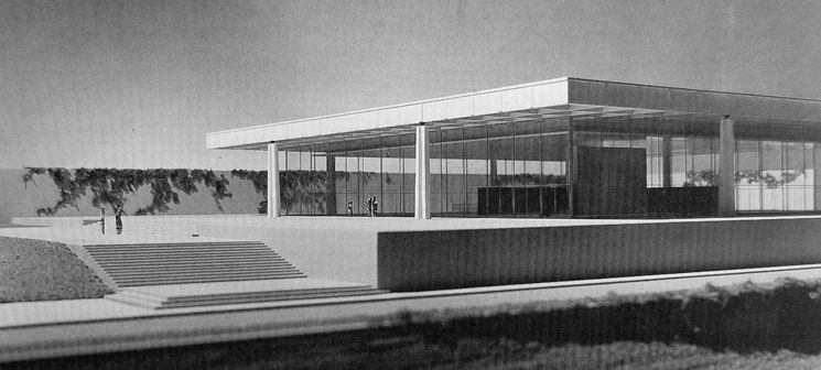 Edificio Administrativo Para Bacardi En Santiago De Cuba Con Mies Van Der Rohe Mies Van Der Rohe Architecture Van Der Rohe
