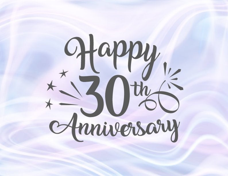 Happy 30th Anniversary SVG Files for Cricut Pearl Wedding