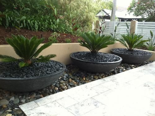 Landscape Designs Using Pots Mosaic