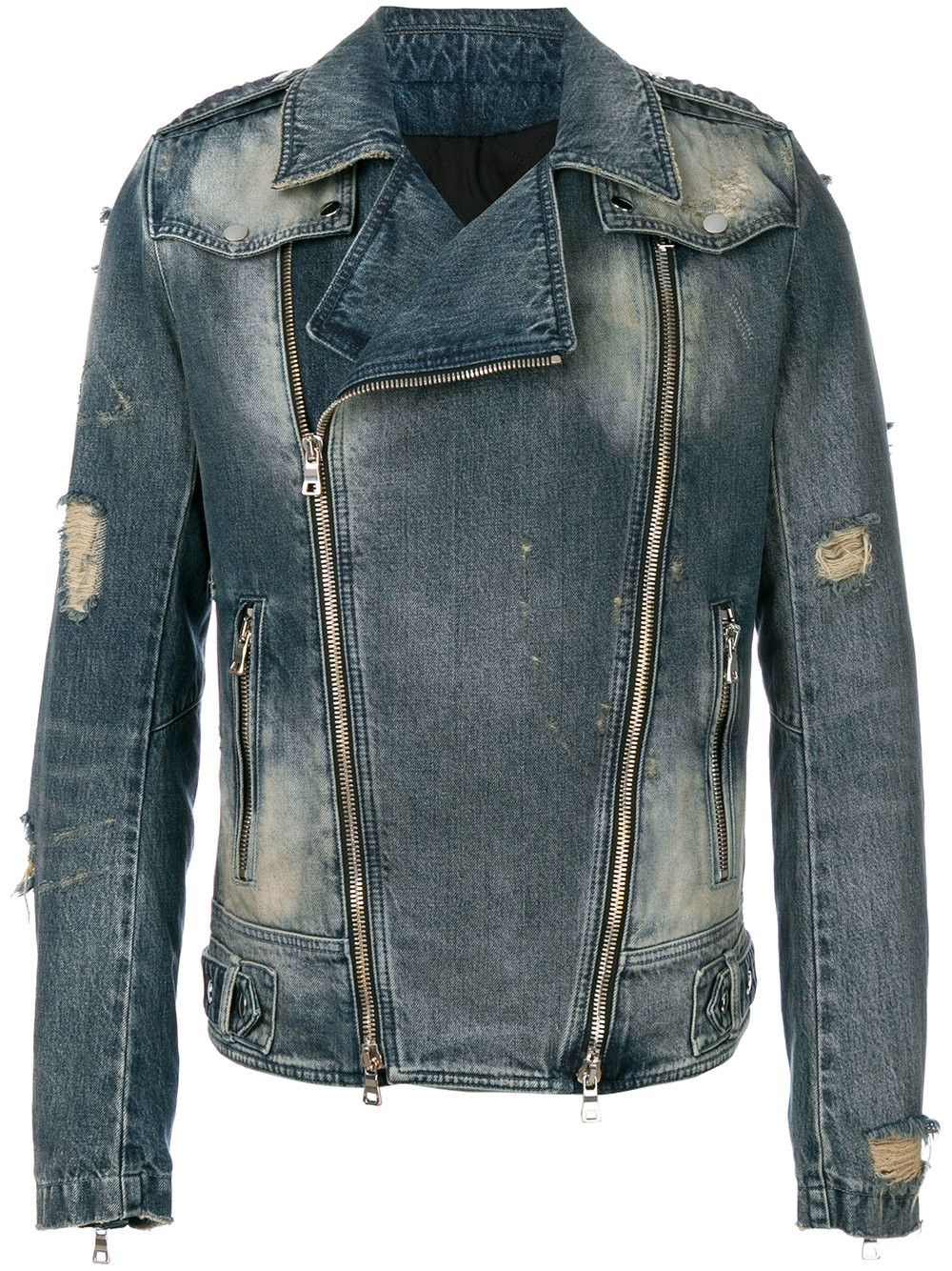 6a5c73b4 BALMAIN biker denim jacket. #balmain #cloth # | Balmain Men in 2019