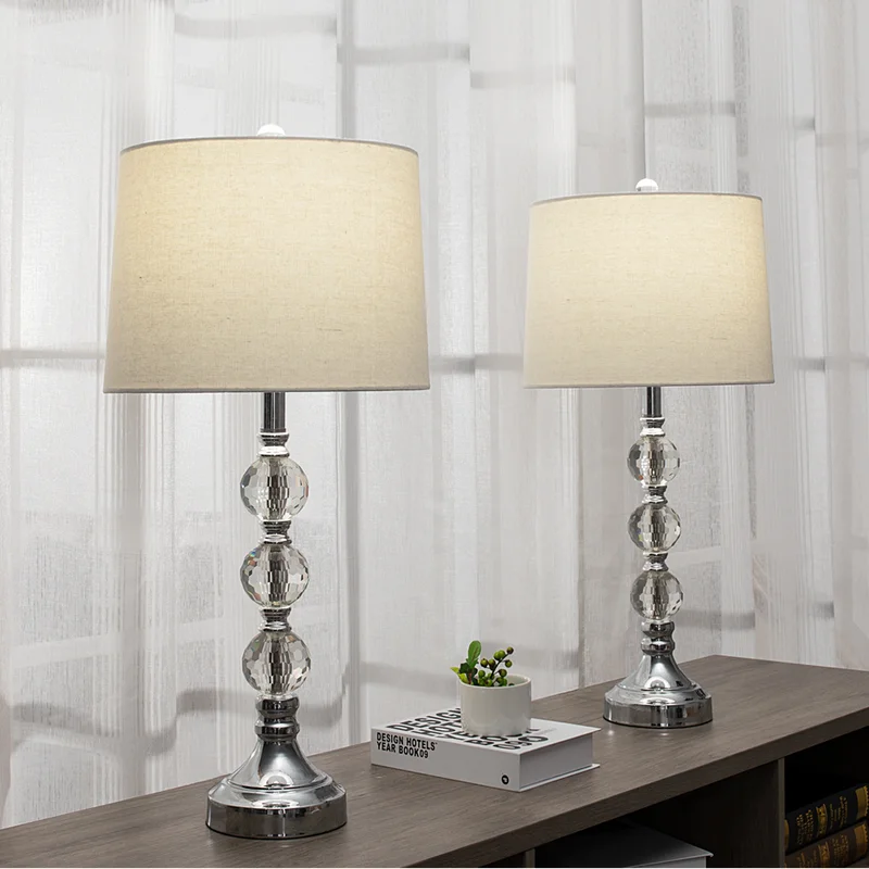 Wargo 28 Chrome Table Lamp Set Table Lamp Table Lamp Sets Clear Table Lamp