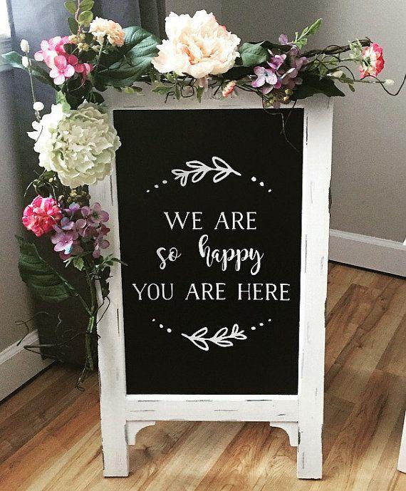Wedding Chalk Board Sign By Timberandlaceco