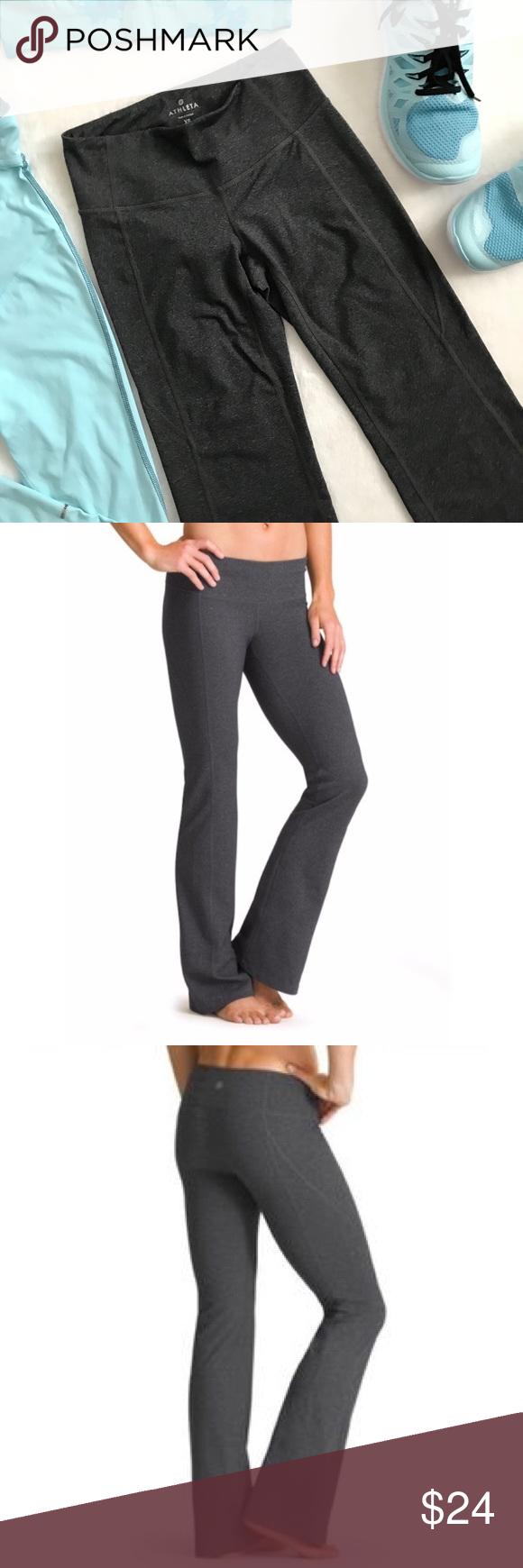 26740711ea Athleta Dark Gray Revelation Yoga Pant Size XS In EUC!! Athleta dark gray  Revelation