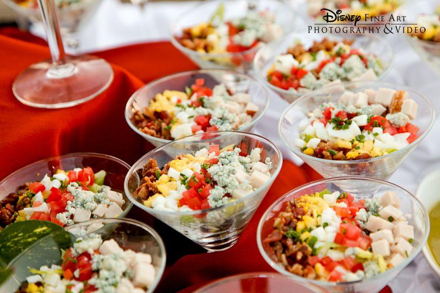 Cobb Salad In Martini Gles Wedding Reception Food Disney Weddings