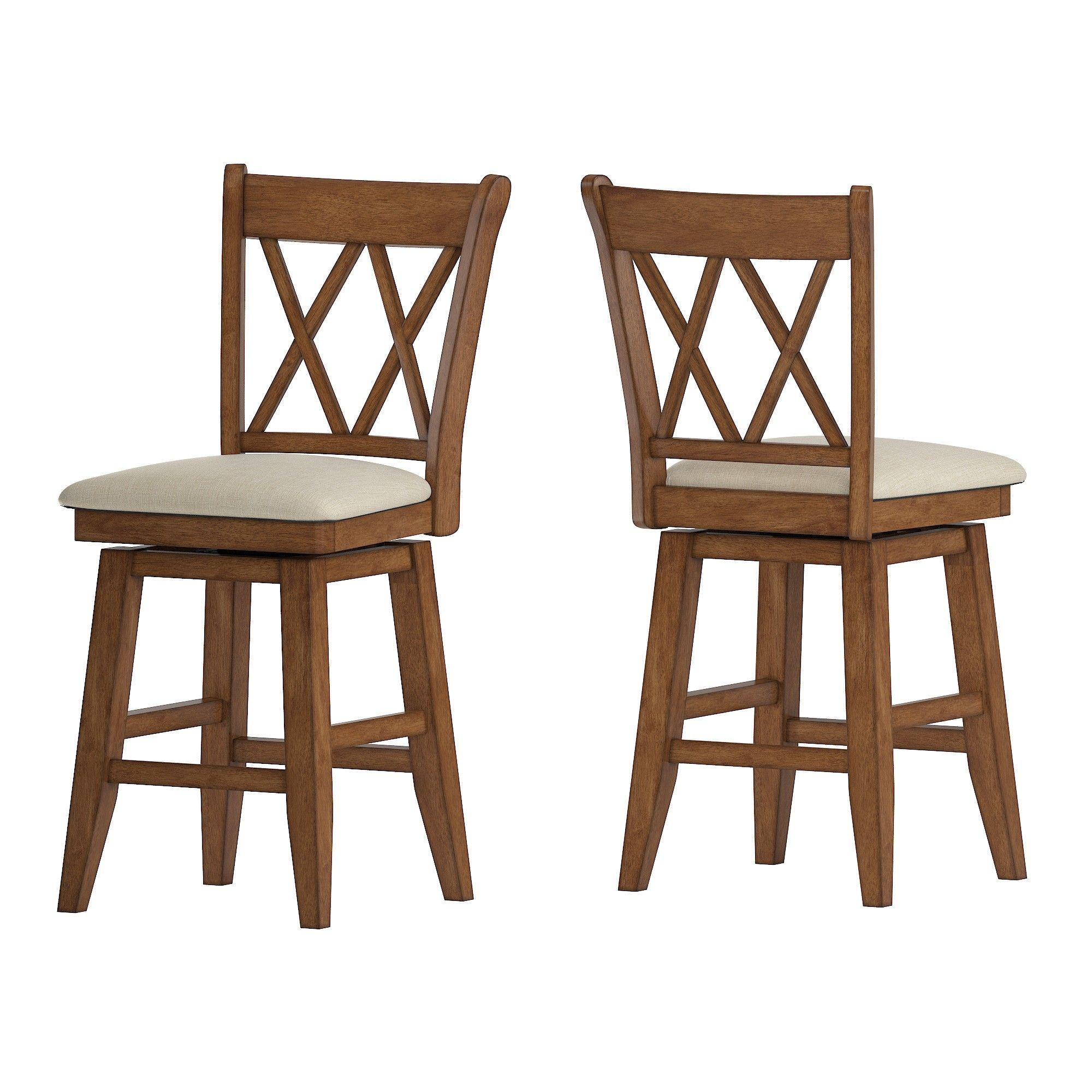 Excellent 24 South Hill Double X Back Swivel Counter Height Chair Oak Pabps2019 Chair Design Images Pabps2019Com