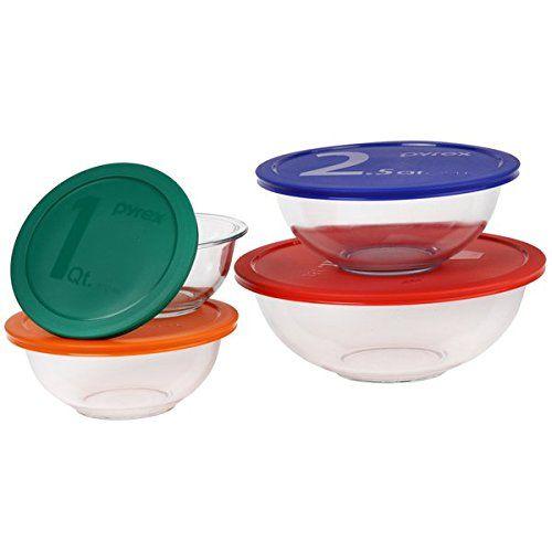 Round Smart Essentials 4piece Bowl Bakeware Set GlassPlastic * Read more  at the image link.