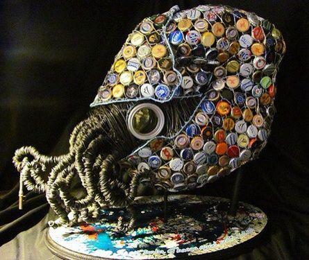 Nautilus. Tampinhas de garrafa e arame!