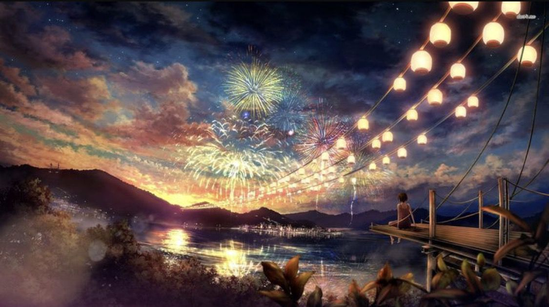 Can I Hear Your Voice Nalu Fanfiction Why Anime Scenery Fireworks Wallpaper Landscape Wallpaper Fireworks anime hd wallpaper
