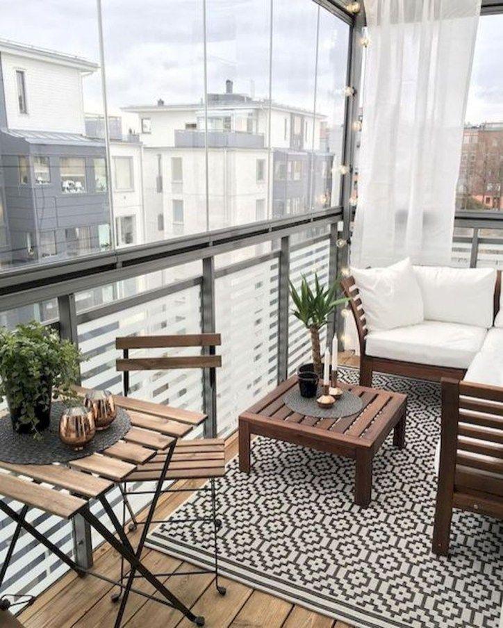 63 Cozy Apartment Balcony Decorating Ideas: Cozy Apartment Balcony Decorating Ideas 24