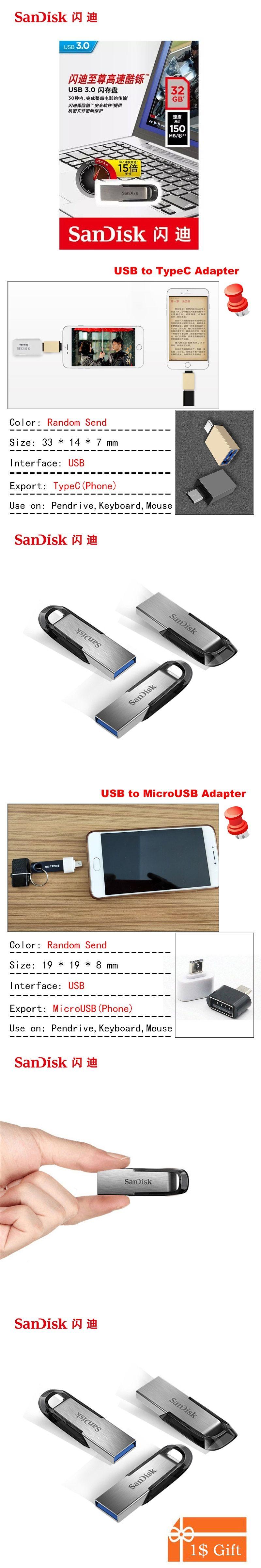 Sandisk Usb 30 Flash Drive 128gb 64gb 32gb 16gb 150mb S Ultra Flair Flashdisk Fit Memory Stick