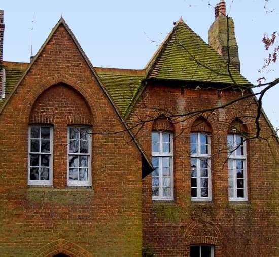 Modern House Red Roof: Philip Webb, Red House, Roof Detail, Brick