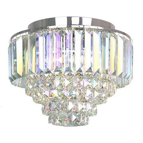 Home Collection Chrome And Crystal Florence Flush