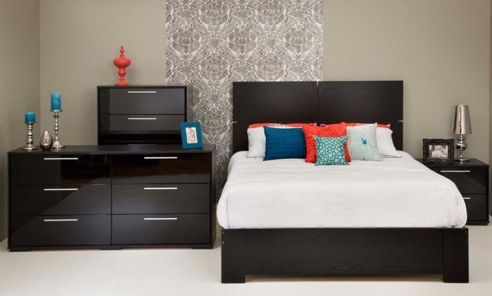 South Shore Mikka Luxurious Style 5-drawer Chest Aluminum Handler Modern Drawer  #bedroomfurniture #dessers #chest