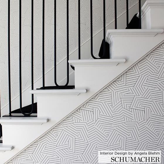Best 5007973 Deconstructed Stripe Black Schumacher 640 x 480