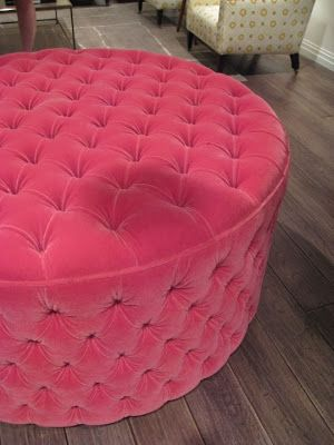 Tufted Round Ottoman I Want A Different Color Decor In