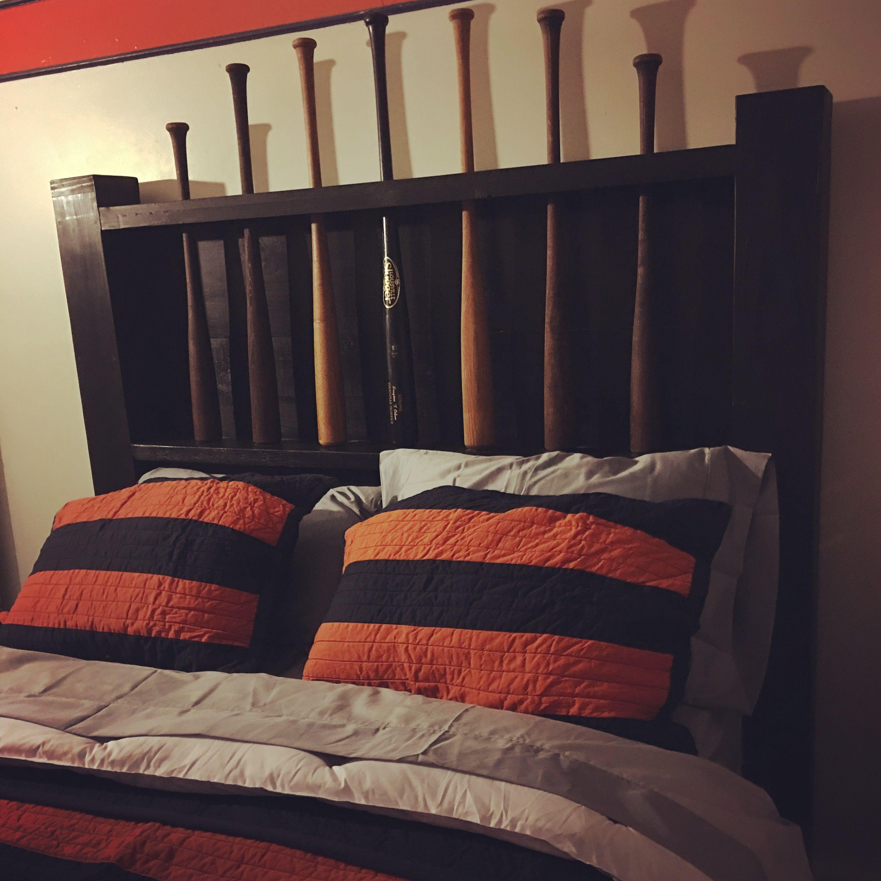 baseball bat headboard baseball bedroom pinterest baseball bat