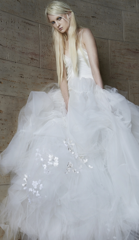 Vera Wag tulle and flowers gown is heavenly from verawang.com ...