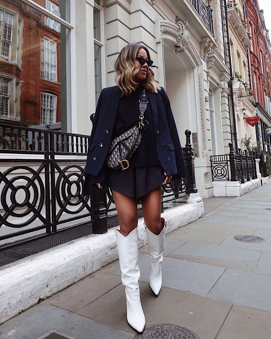 Pin By Maria Jose Mendo Vergara On Womens Fashion White Boots Outfit Fashion Fashion Inspo Outfits [ 1350 x 1080 Pixel ]