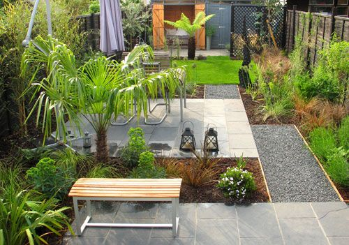 Small Garden Designs Surrey: Liking The Combination Of Materials