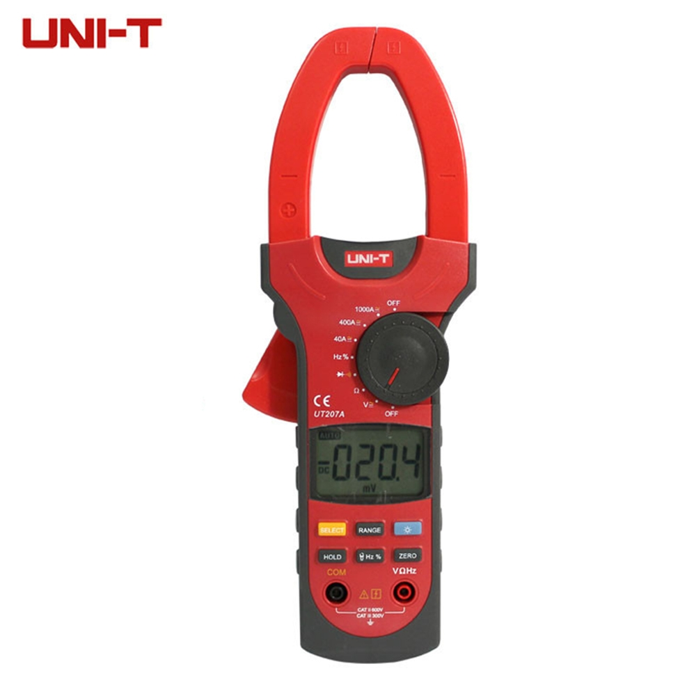 82.16$  Buy here - http://ai9cz.worlditems.win/all/product.php?id=32677763317 - UNI-T UT207A True-RMS Digital Clamp Meter Multimeter ACA & DCA Clamp Meter 1000A, Voltage Current Resistance Frequency