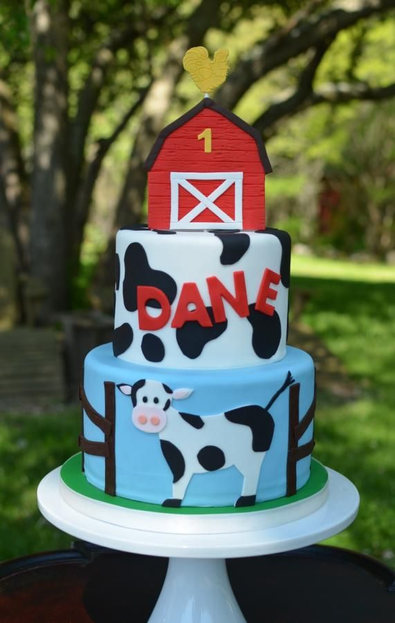 Brilliant Farm Birthday Cake Cow Birthday Cow Birthday Parties Funny Birthday Cards Online Sheoxdamsfinfo