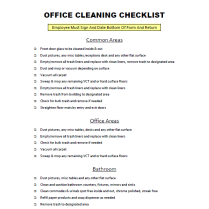 Free download office cleaning checklist cleaning blog for Office cleaning contract template