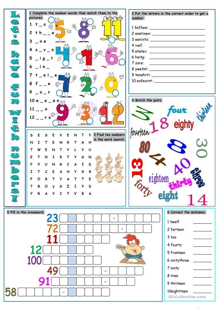 Let's Have Fun with Numbers! worksheet Free ESL