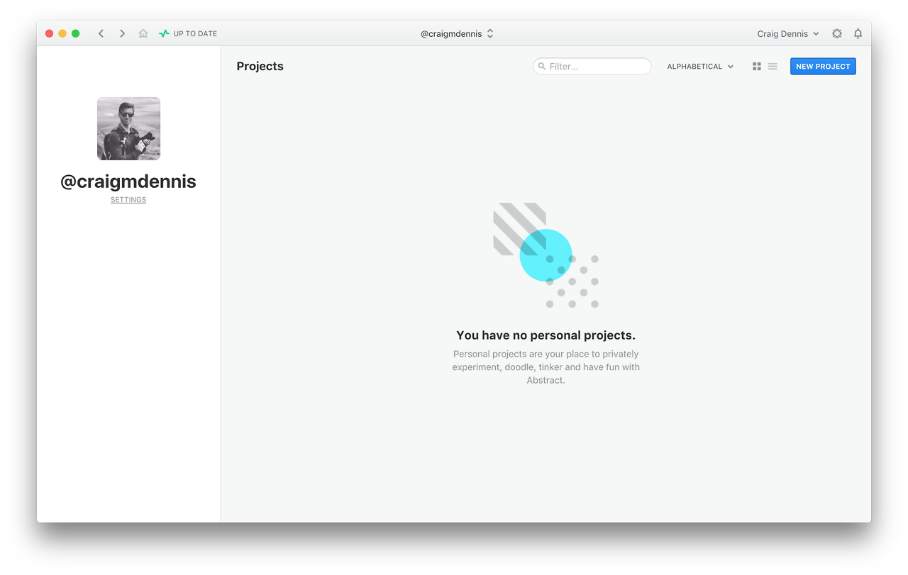No Personal Projects In Goabstract For Mac In 2020 Empty State Web Design Empty