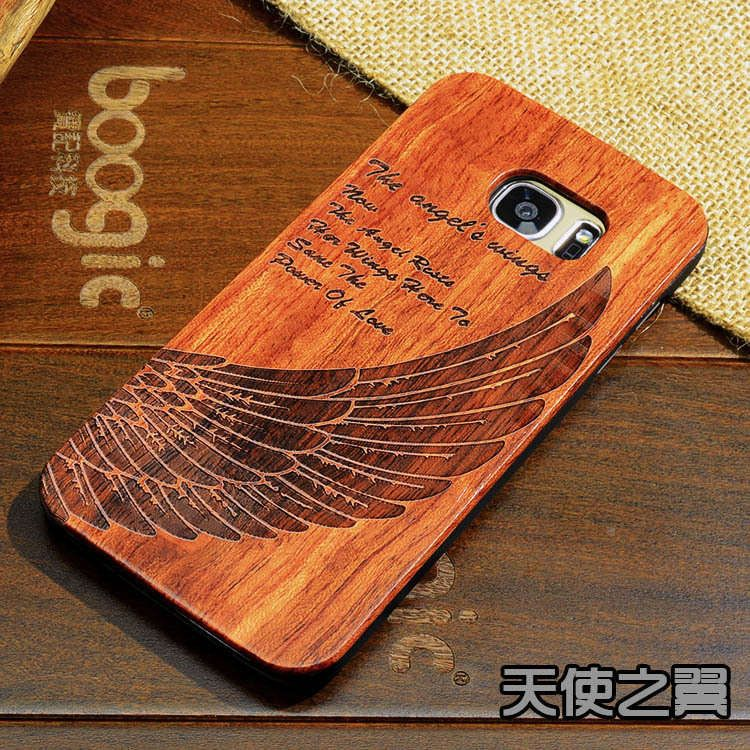 Wood Case For Samsung S7 Wooden New Cover Natural Real Bamboo