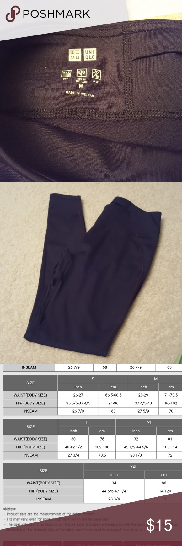 Uniqlo Airism Leggings Nwot Leggings In Size Medium Please Refer To Uniqlo Sizing Chart 85 Polyester 15 Spandex Clothes Design Fashion Tips Uniqlo Pants