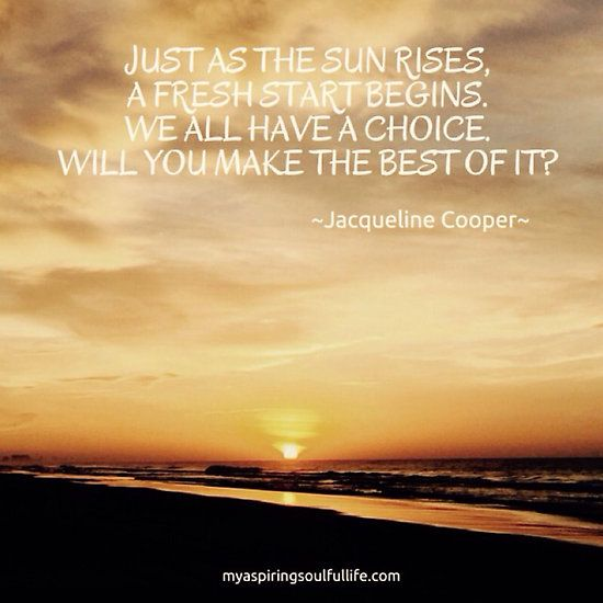 Beach Sunrise With Quote Just As The Sun Rises A Fresh Start