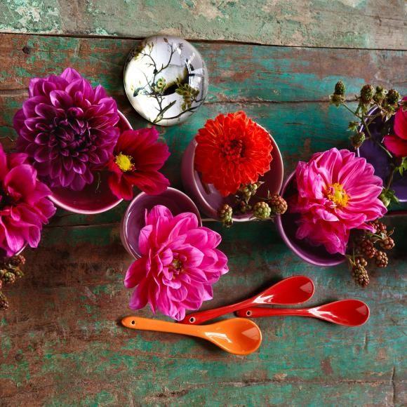 ▷ Herbstblumen als Tischdeko