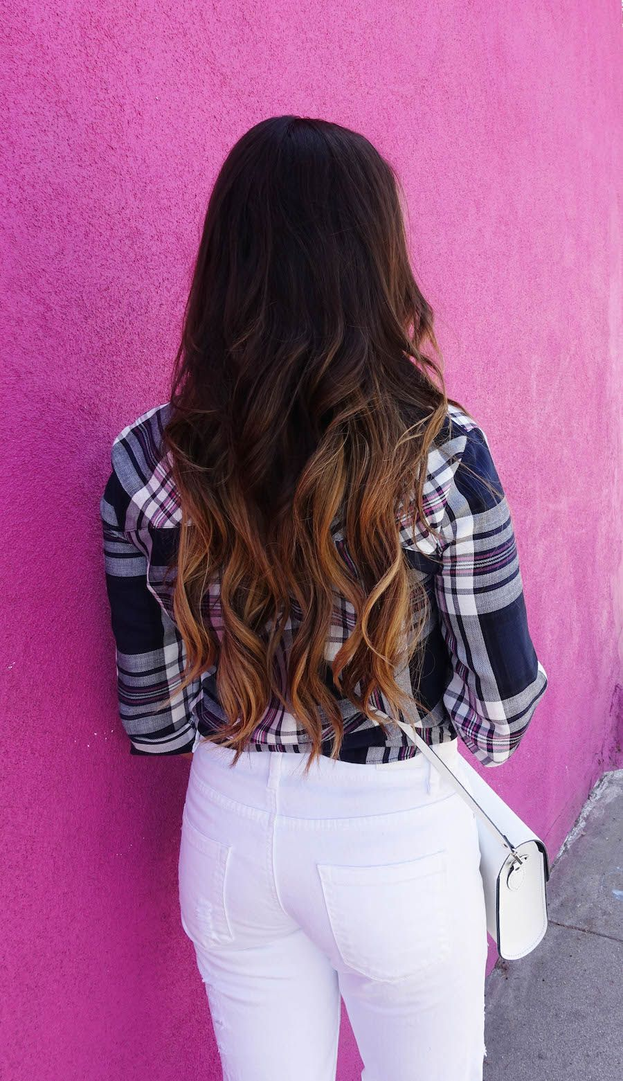 long hair + waves