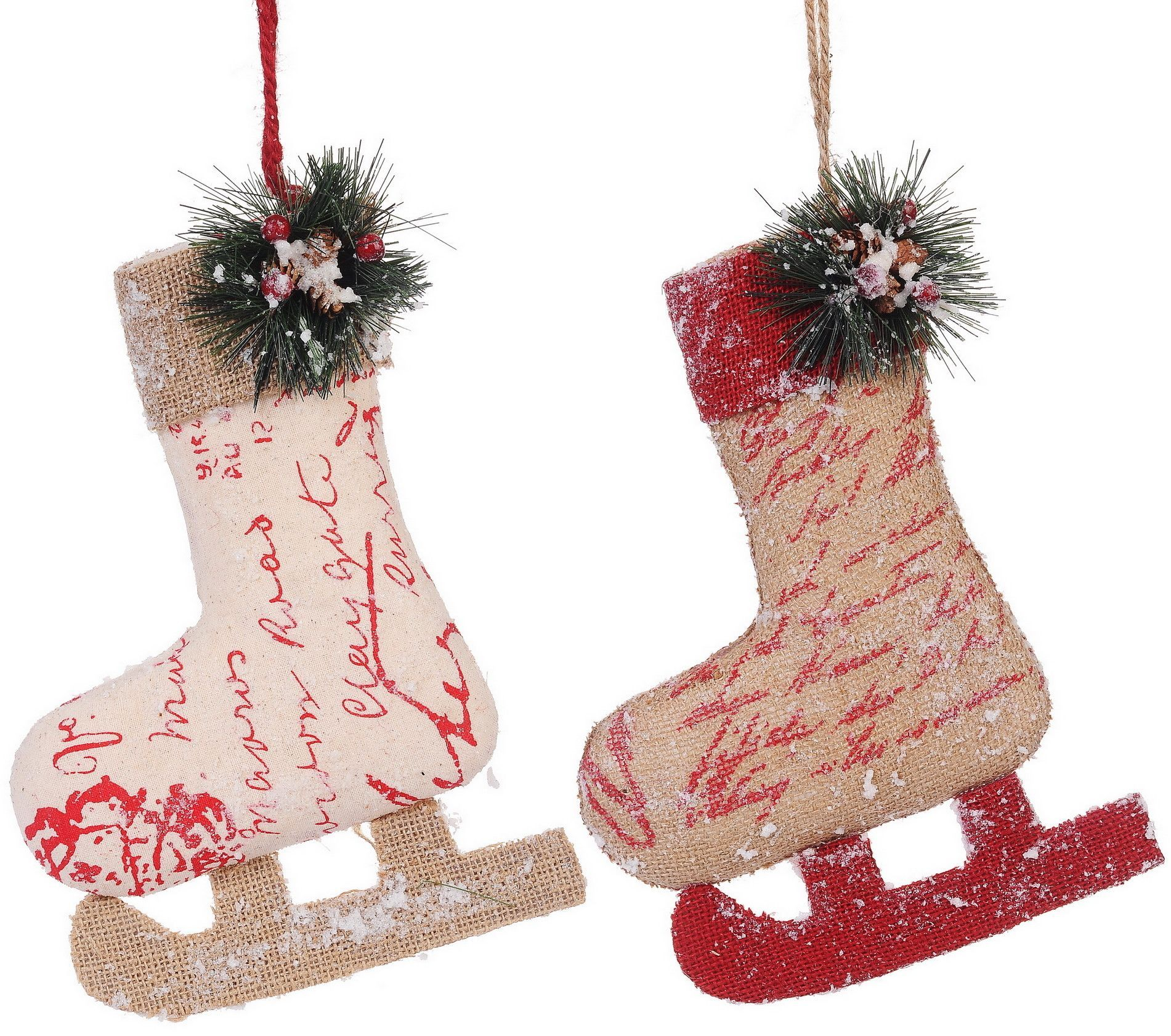Features: -Set includes 2 ornament. -Material: Polyester and resin ...