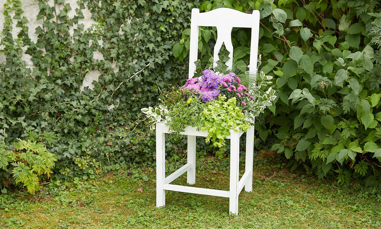 Alter Stuhl Als Gartendeko Alter Stuhl Blumen Stuhl Garten Deko