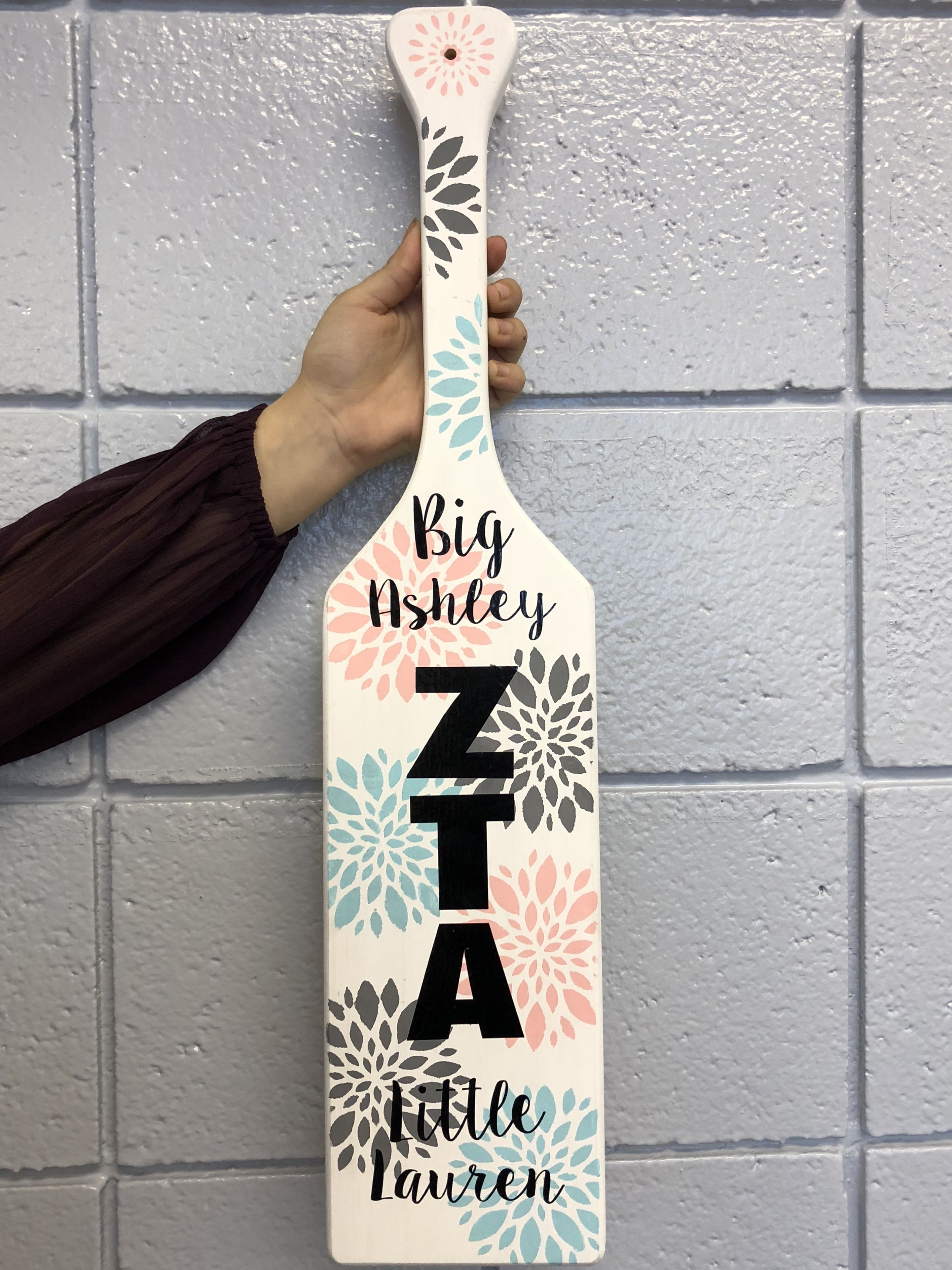 Big Little Paddle Zta Zeta Tau Alpha Sorority Sorority Little