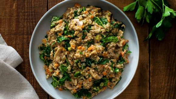 Oatmeal risotto with mushrooms and kale recipe pinterest oatmeal risotto with mushrooms and kale recipe pinterest oatmeal organic dinner recipes and risotto forumfinder Images