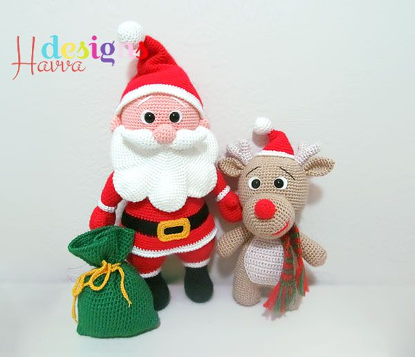 Santa Claus and Reindeer amigurumi pattern by Havva Designs ...