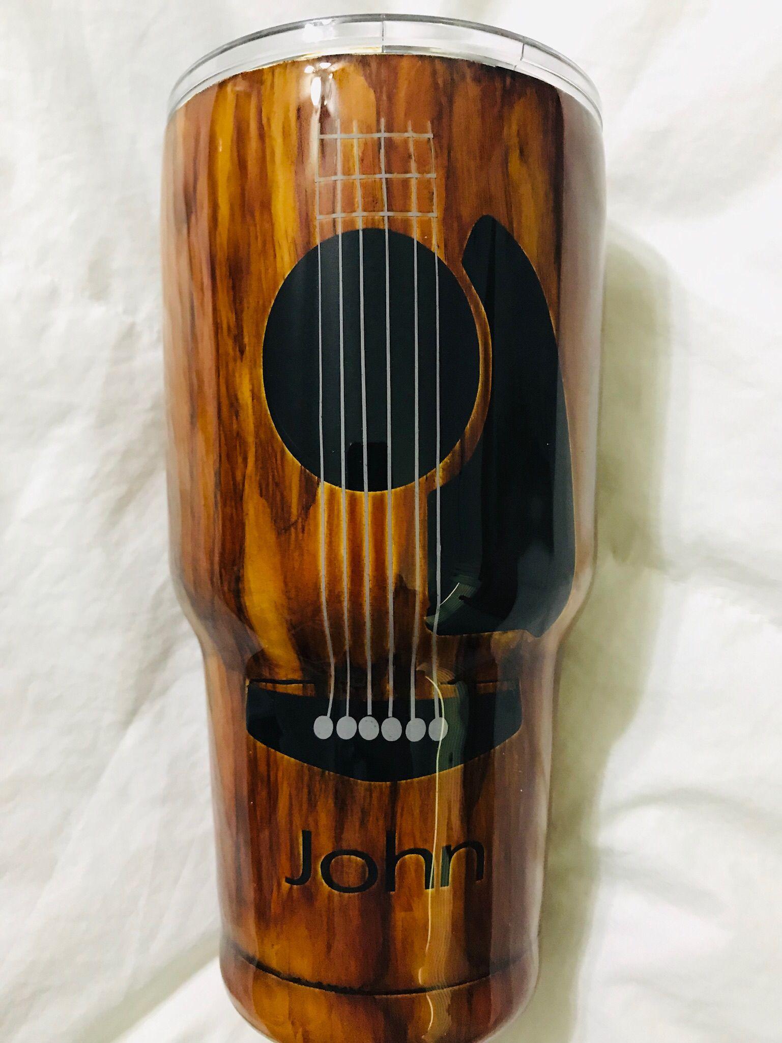 Wood grain tumbler guitar | Our Custom Tumblers | Tumbler