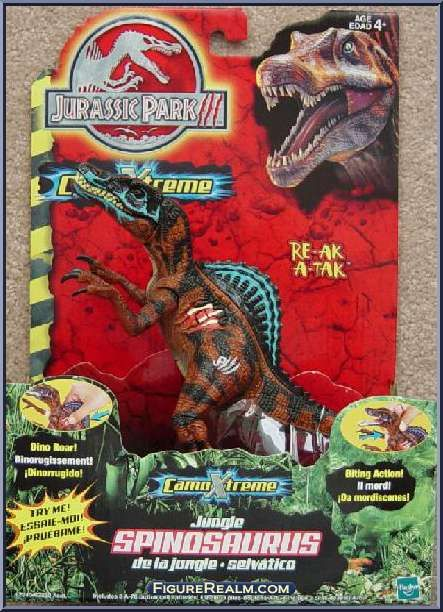 Dinosaurs Mdf Toy Box Childrens Storage Toys Games Books: Hasbro Jurassic Park III: CamoXtreme Deluxe Jungle