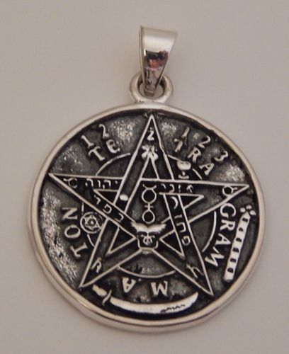 Argent Sterling Solide Celtic Knot Pentacle Pentagramme Pendentif Carré Bijoux