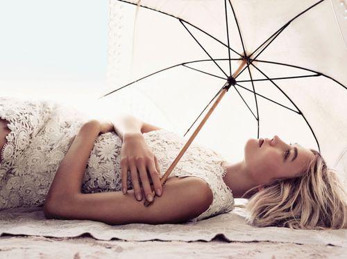 womens fashion editorial photo shoot Karlie Kloss beach look