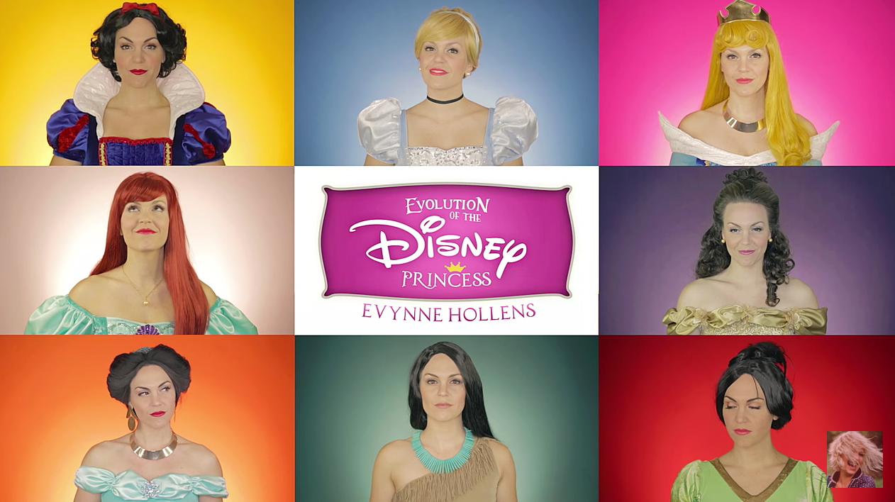 A cantora de Youtube Evynne Hollens fez um vídeo lindo em homenagem à evolução das princesas da Disney!