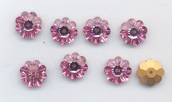 12 vintage Swarovski margaritas  art 3700  12 mm  by RNEVEBEADS